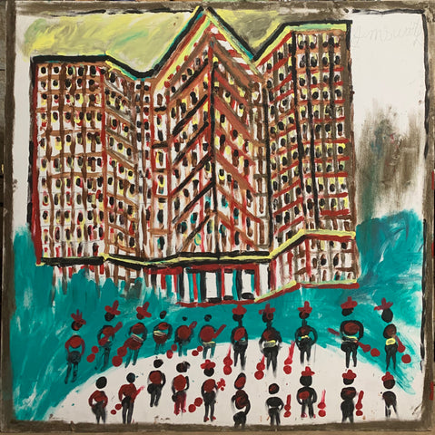 Apartment With Musicians #08, Jimmie Lee Sudduth Painting