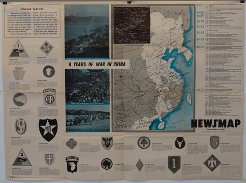 "Newsmap Industrial Edition ""8 Years of War in China"" - Poster Museum"