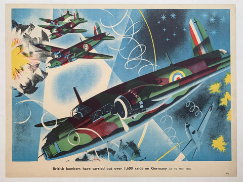 British bombers have carried out over 1,600 raids on Germany - Poster Museum