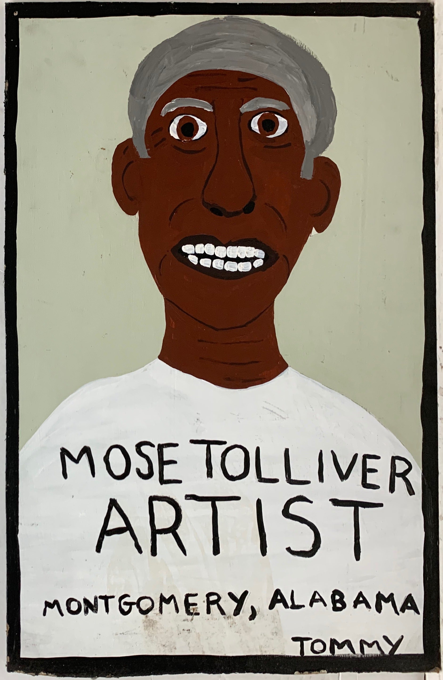 A Tommy Cheng portrait of Mose Tolliver.