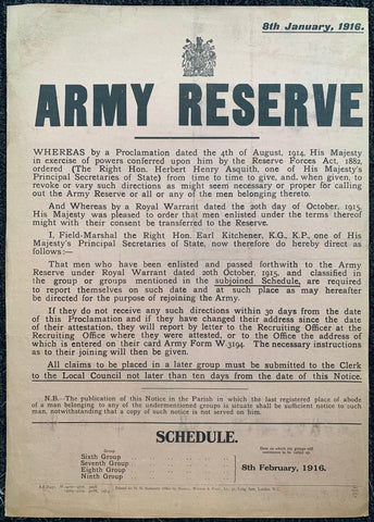 Army Reserve Schedule