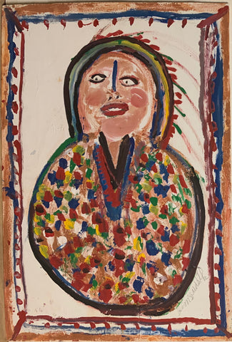 Native American Chief #93, Jimmie Lee Sudduth Painting
