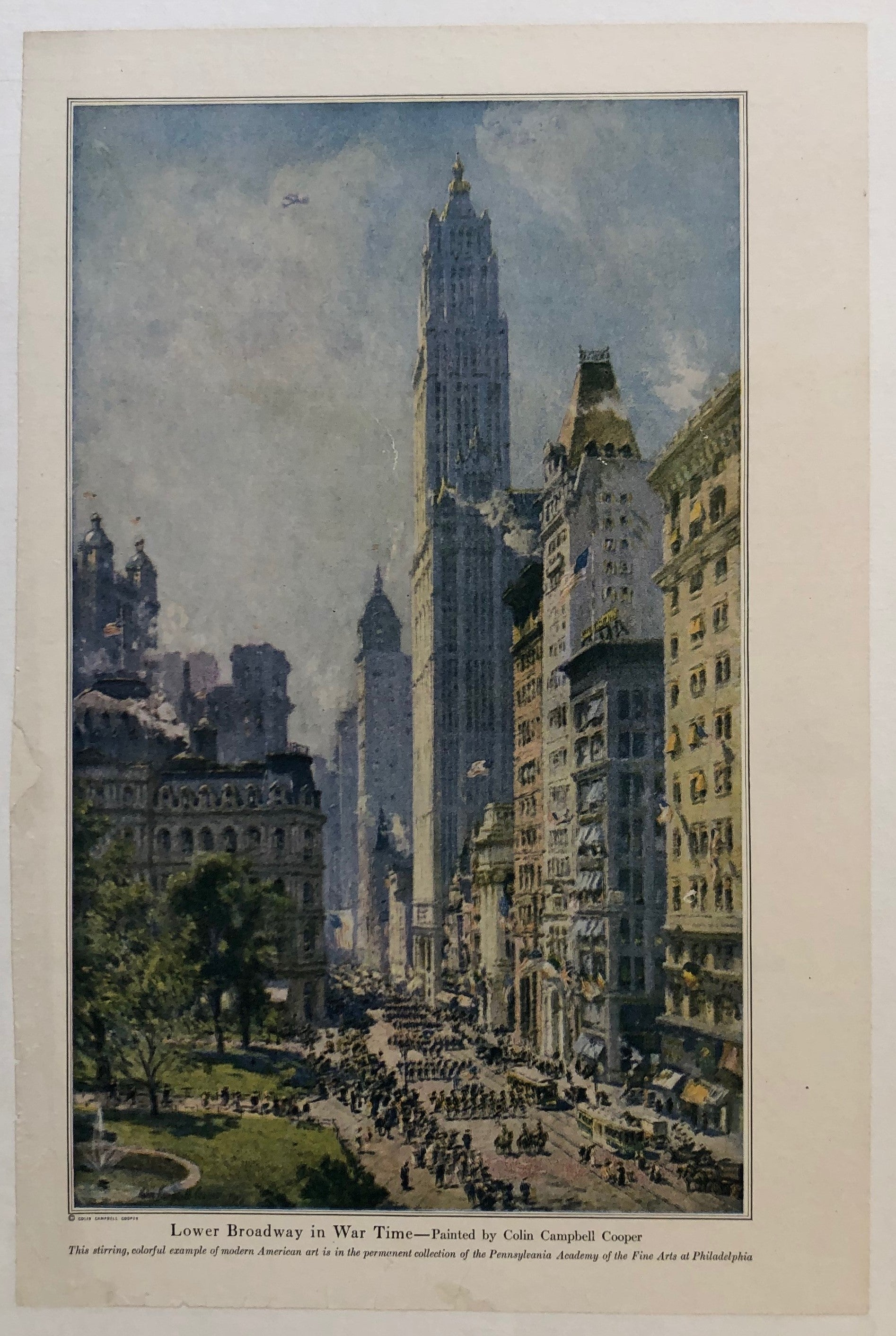 Lower Broadway in War Time by Colin Campbell Cooper
