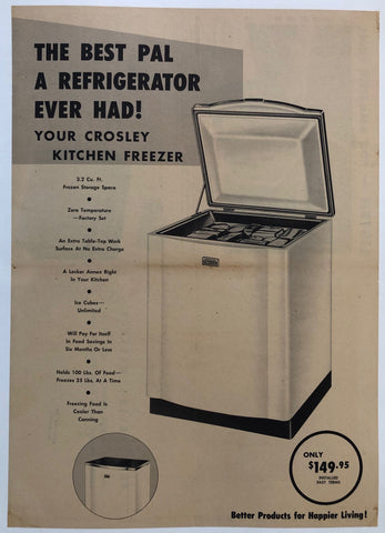 The Best Pal a Refrigerator Ever Had! Crosley Kitchen Freezer