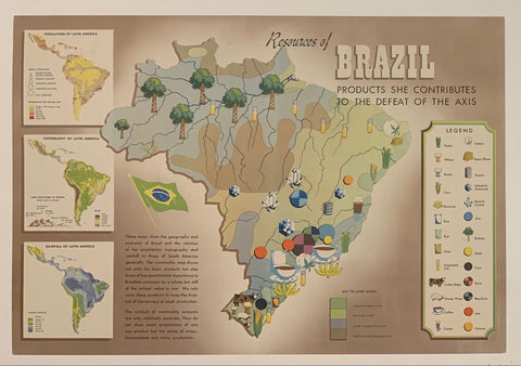 Resources of Brazil Poster
