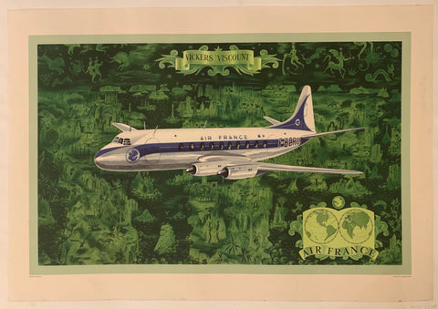 Vickers Viscount Air France Poster