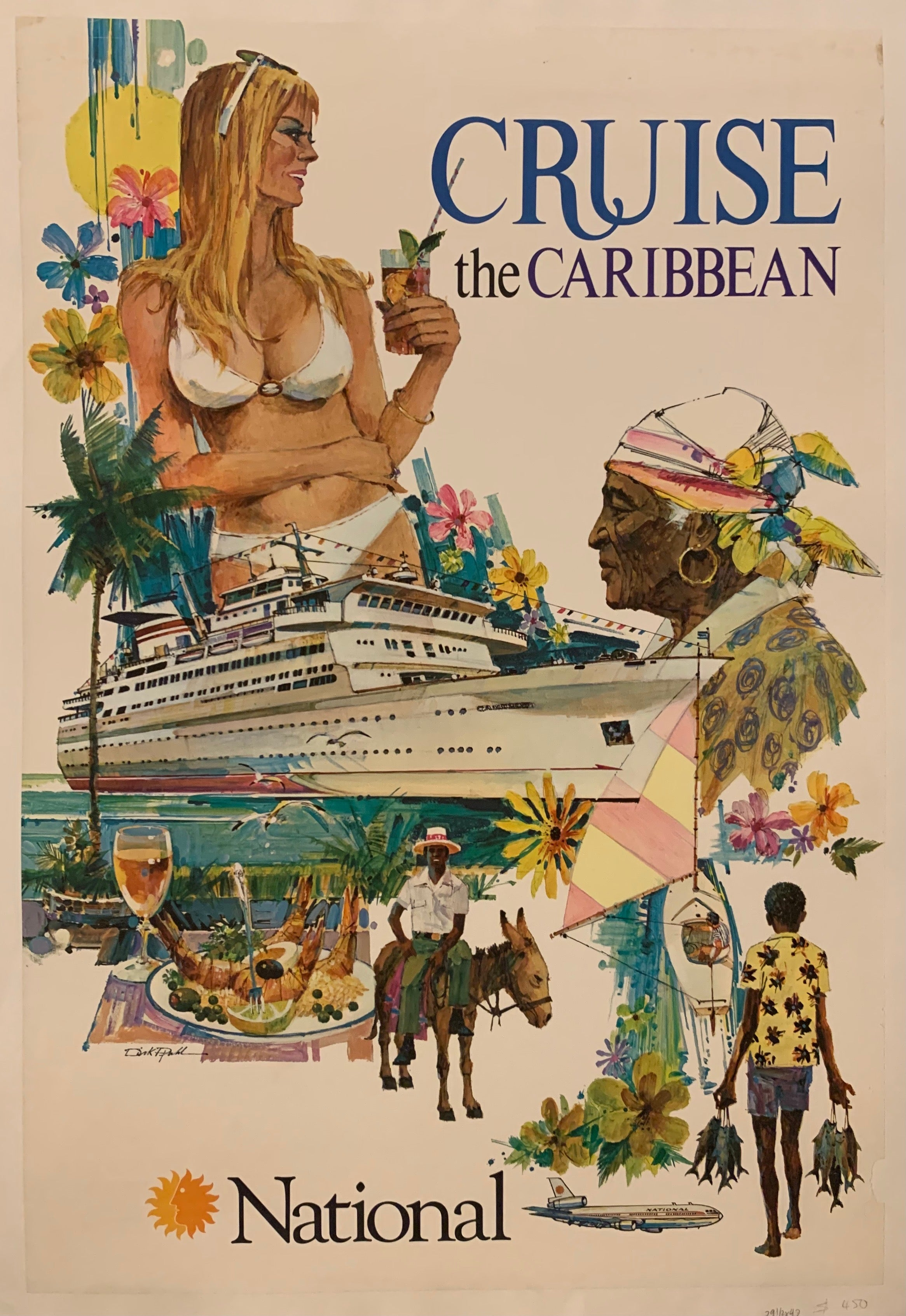 Cruise The Caribbean Poster