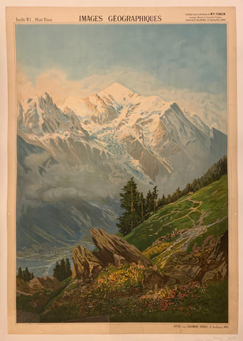 Images Geographiques Mont Blanc Poster