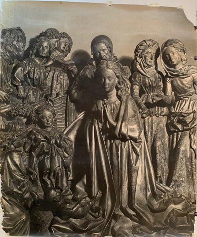 Photograph of Bronze Mary and Jesus