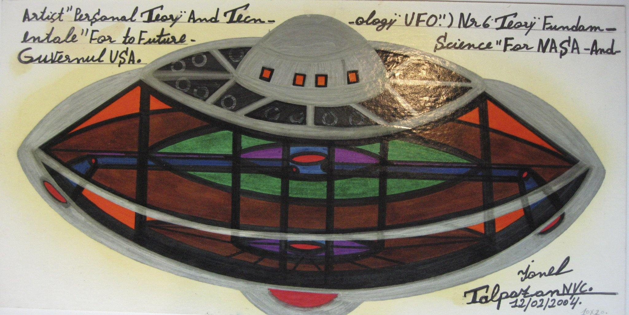 UFO Silver dome & Green/red control room