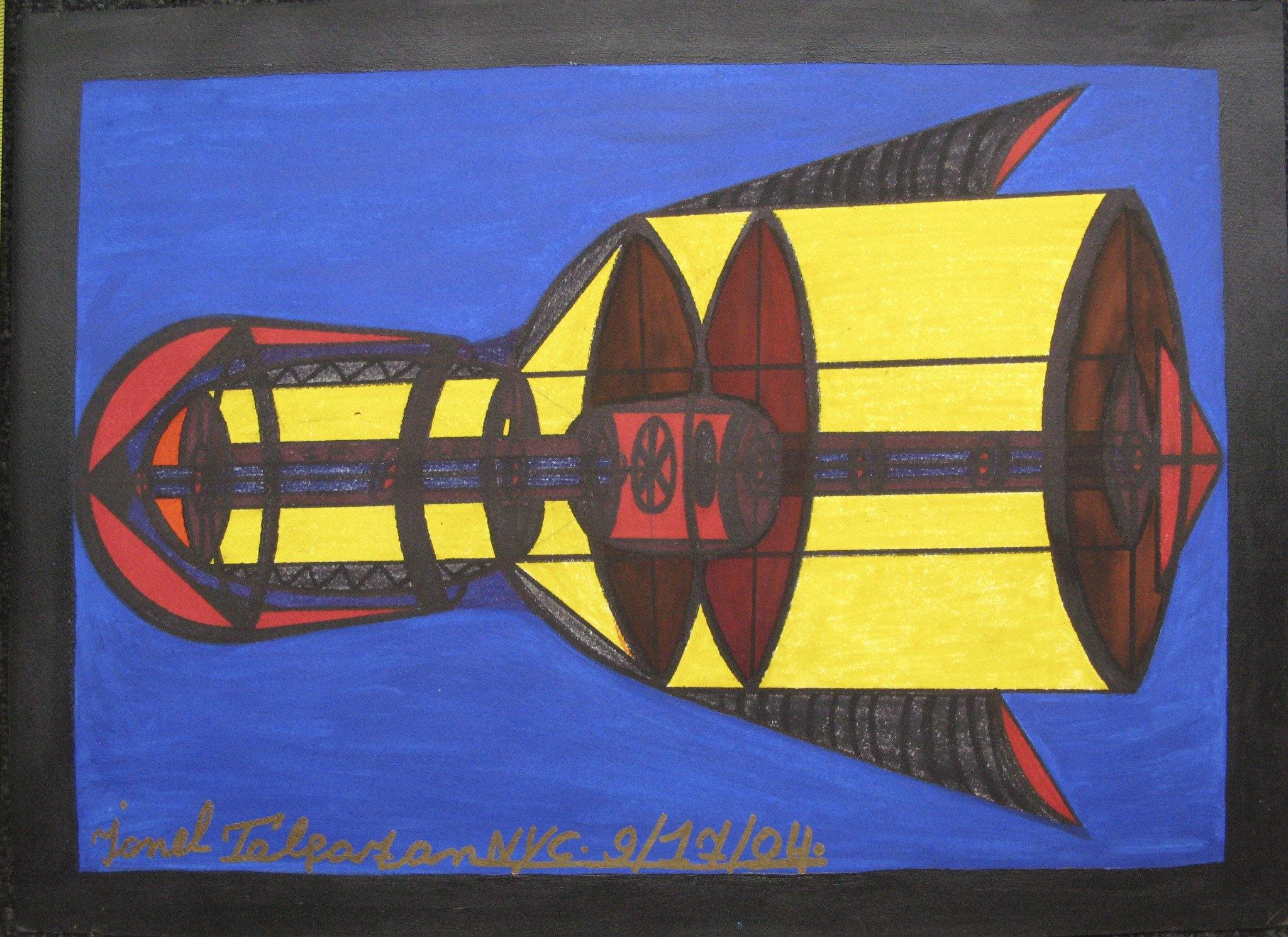 UFO-Space Shuttle Yellow interior w. Red Core