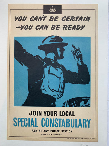 "Join Your Local ""Special Constabulary"" - Poster Museum"