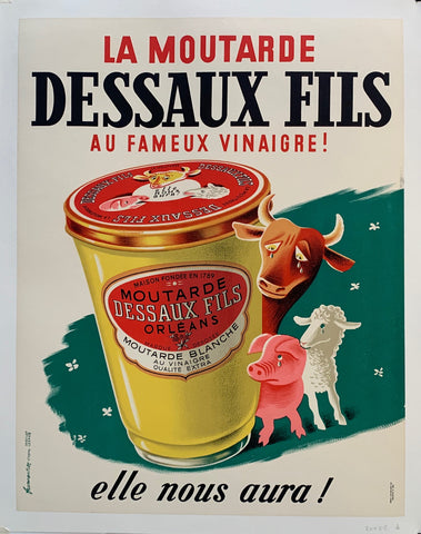La Moutarde Dessaux Fils Advertisement