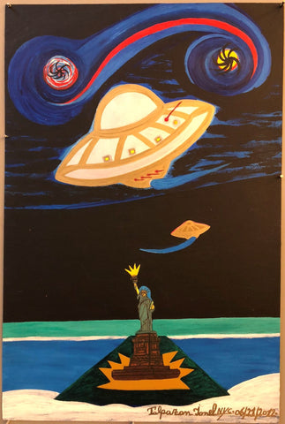 Ionel Talpazan - UFOs by the Statue of Liberty at Night