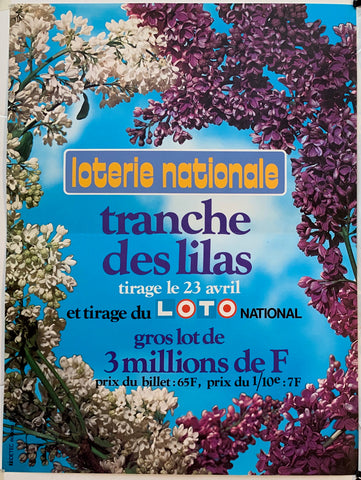 "Loterie Nationale - ""Tranche des Lilas"" 23 Avril"