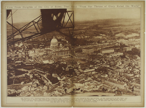 View From Dirigible of the City of Rome