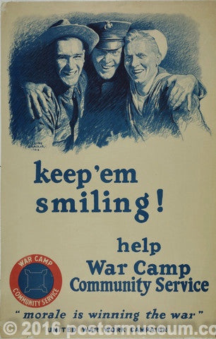 keep 'em smiling! help War Camp Community Service