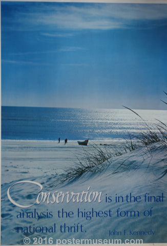 Snowy Beach, Conservation JFK quote