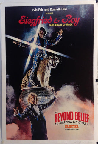 Siegfried & Roy Superstars of Magic in Beyond Belief, an Amazing Spectacle - Poster Museum