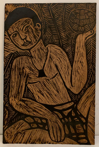 Man With a Ball Woodblock