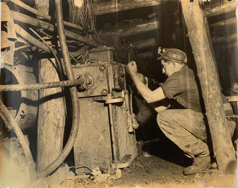 Photograph of Miner at Work