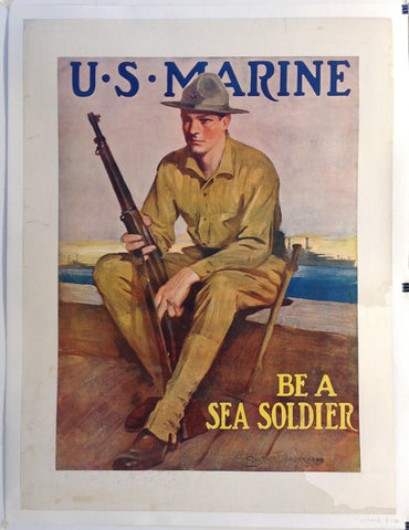 U.S. Marine Be A Sea Soldier - Poster Museum