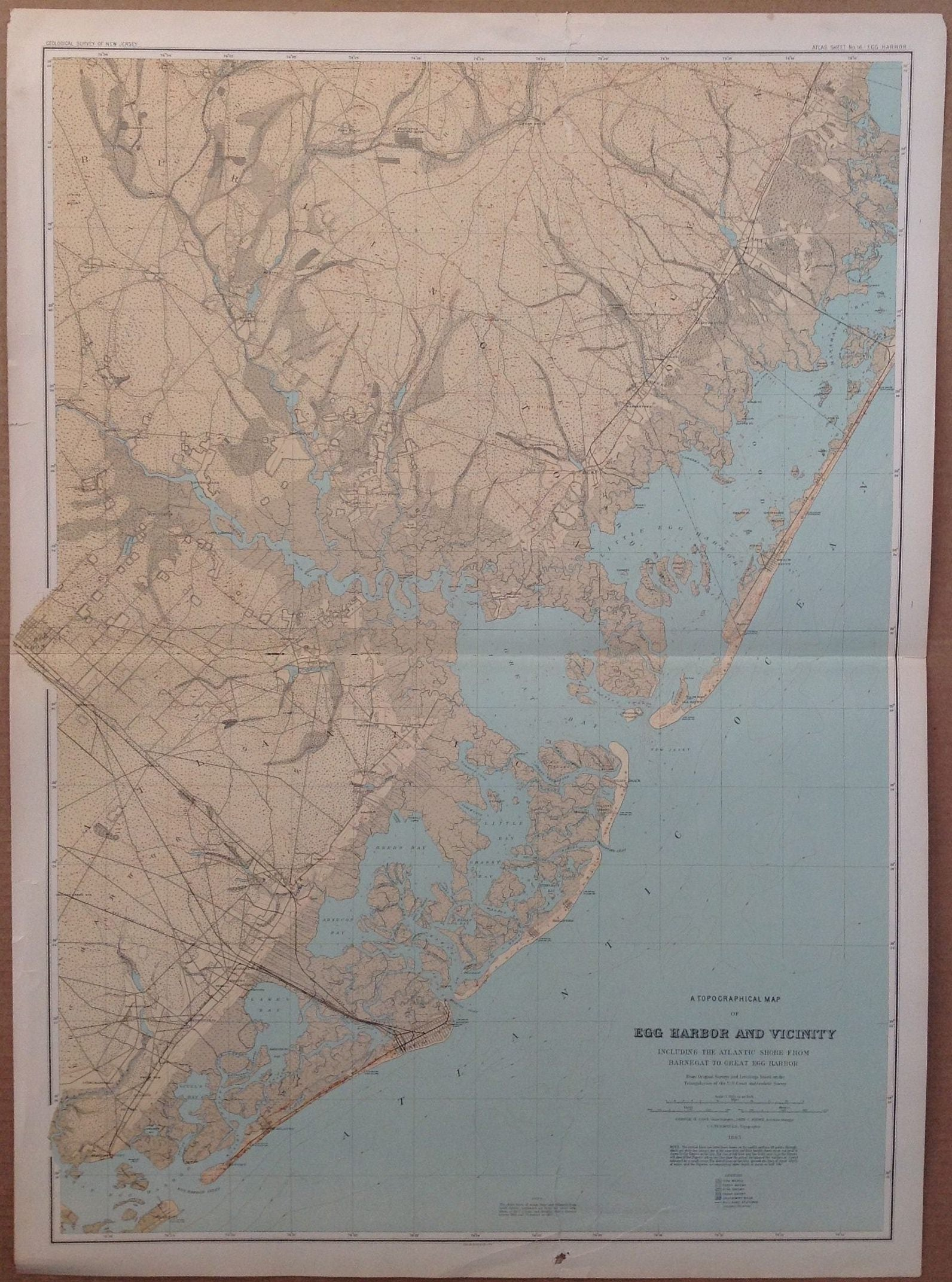A Topographical Map of Egg Harbor and Vicinity