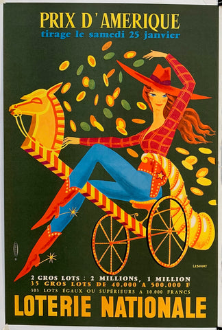 French Lottery Poster - Cowgirl