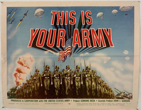 This Is Your Army Poster