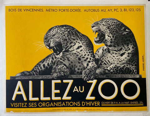 Poster for France's National Natural History Museum