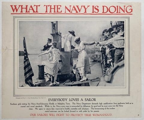 What the Navy is Doing / Everybody Loves a Sailor - Poster Museum