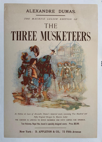 Alexandre Dumas The Maurice Leloir Edition of The Three Musketeers - Poster Museum