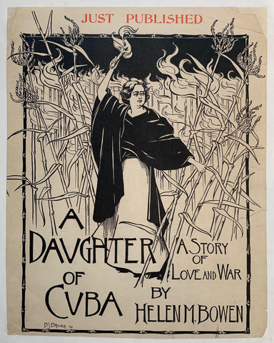 """A Daughter of Cuba"" A Story of Love and War by Helen M. Bowen - Poster Museum"