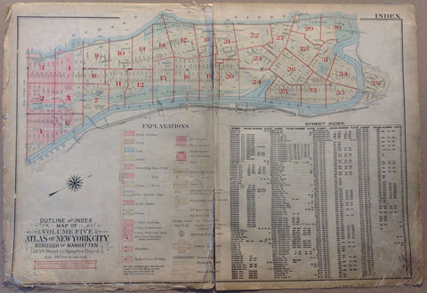 Outline and Index Map of New York City, The Bronx