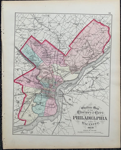 Outline Map of the County and City of Philadelphia