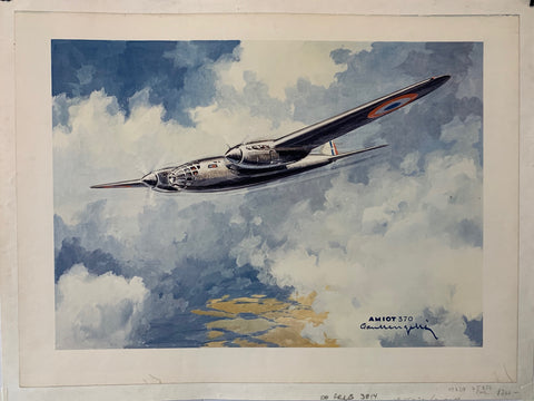 French Aircraft Poster