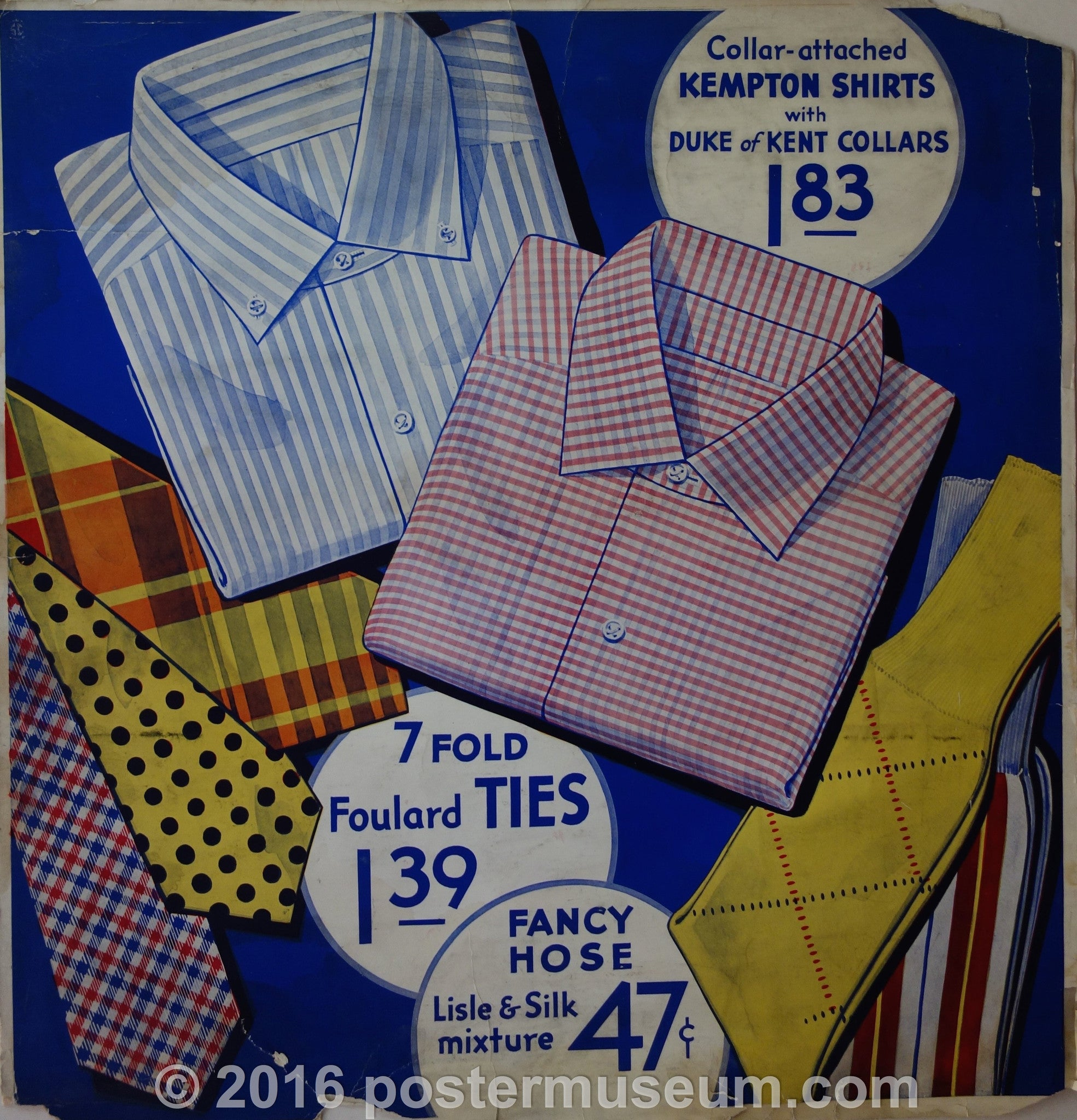 Collar-attached Kempton Shirts with Duke of Kent Collars