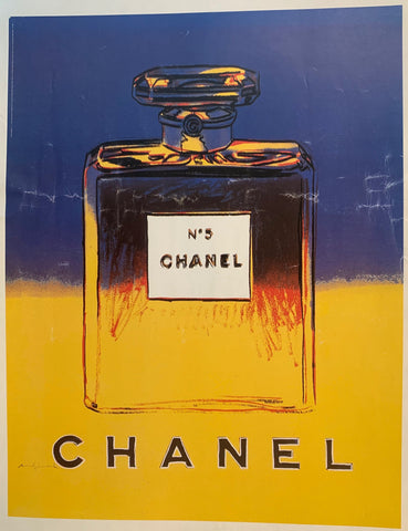 Chanel Blue/Yellow by Andy Warhol