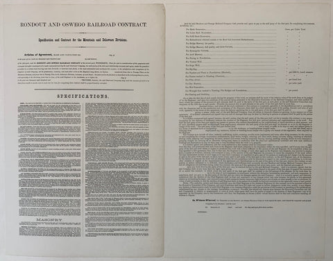 Rondout and Oswego Railroad Contract