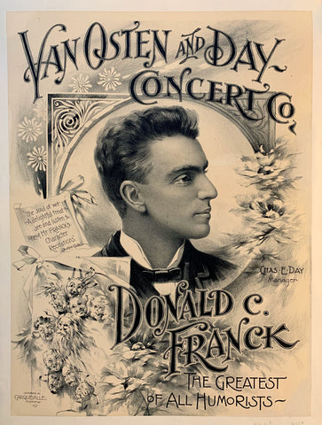 Van Osten & Day Concert Co - Donald C Franck - The Greatest of All Humorists