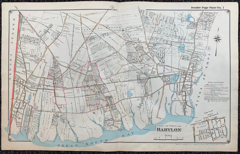 Long Island Index Map No.2 - Plate 1 Babylon
