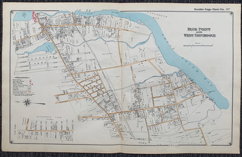 Long Island Index Map No.2 - Plate 37 Blue Point West Patchogue