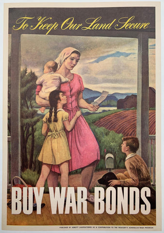 To Keep Our Land Secure. Buy War Bonds. - Poster Museum