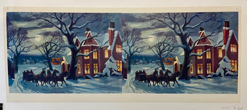 Winter Horse and Carriage Ride Print