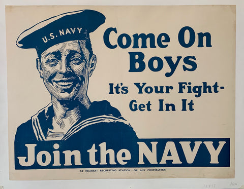 Come on Boys It's your fight - get in it. JOIN THE NAVY.