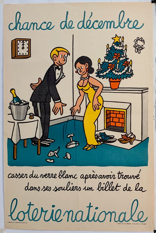 French Lottery Poster - Glass