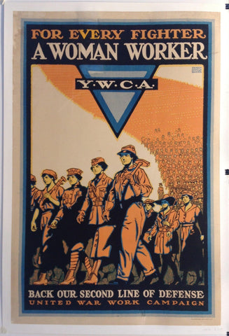 For Every Fighter a Woman Worker Y.W.C.A. - Poster Museum