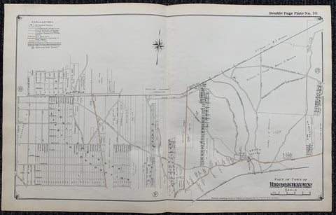 Long Island Index Map No.2 - Plate 10 Brookhaven