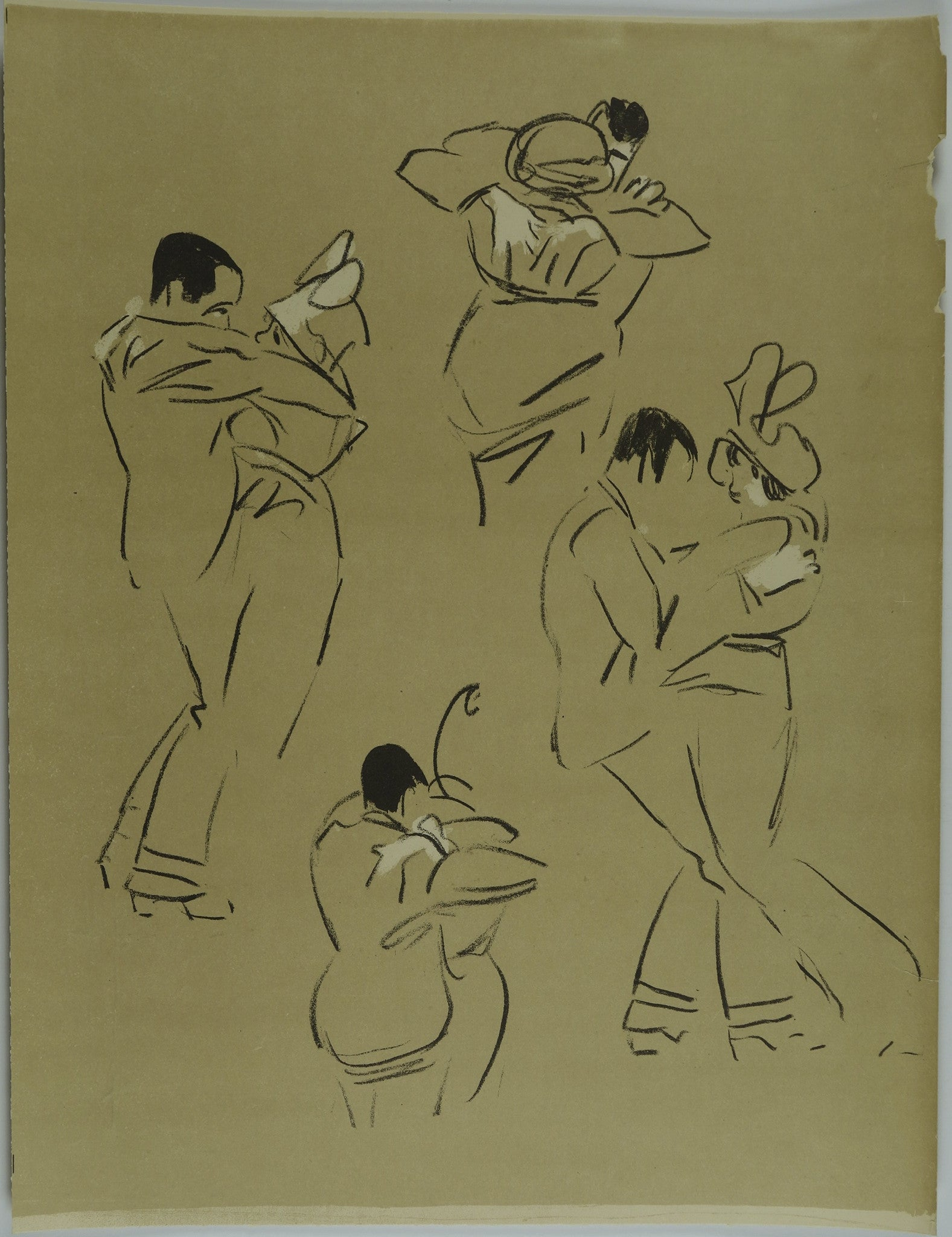 Couple dancing Lithograph