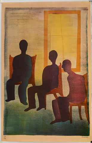 Silhouette Gathering Painting